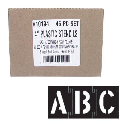 10194 4 IN. 46PC PLASTIC STENCILS