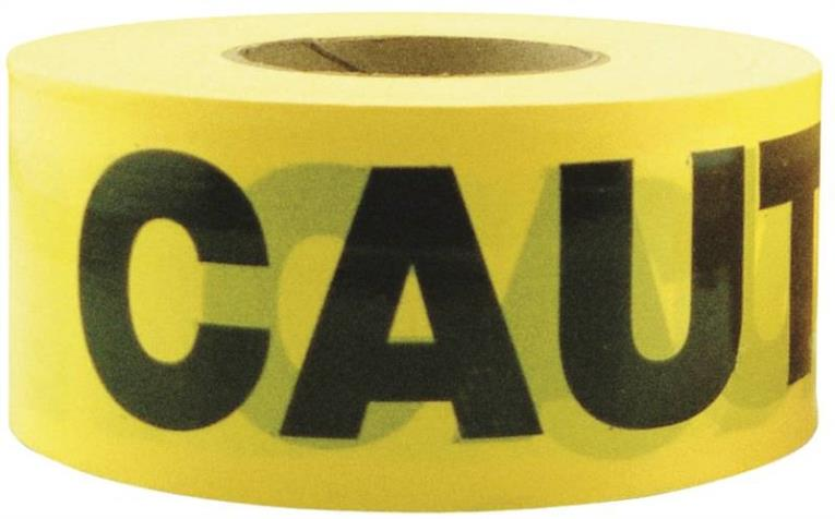 Ch Hanson 16000 Heavy Duty Standard Grade Barricade Tape, 3 in W X 1000 ft L X 2 mil T, Caution