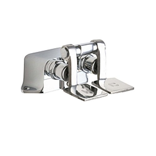 Lead Law Compliant 2 Handle 2 Hole PEDAL Valve Chrome