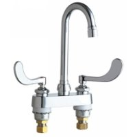California Energy Commission Registered Lead Law Compliant 2 Handle Three Hole Lavatory Faucet Chrome 0.5 Gallons Per Minute