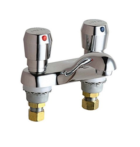 California Energy Commission Registered Lead Law Compliant 2 Handle 2 Hole Lavatory Faucet Chrome 0.25 GPC