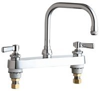 Lead Law Compliant 2 Hole Lever 8 Center Deck Mount SINK Faucet