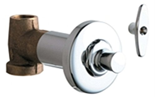 Lead Law Compliant Concrete Straight Valve With L/K Polished Chrome