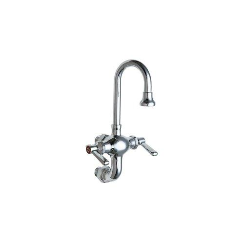 Lead Law Compliant Wall Mount Mixing Service SINK Faucet 1.5 Gallons Per Minute