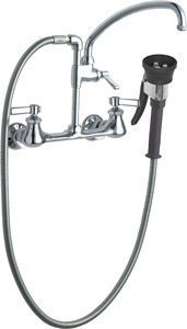 California Energy Commission Registered Lead Law Compliant 2 Handle Lever Wall Mount Kitchen Faucet .91/.99
