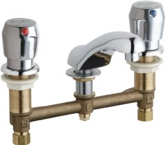 California Energy Commission Registered Lead Law Compliant 0.5 Gallons Per Minute 2 Handle Push Button Lavatory Faucet