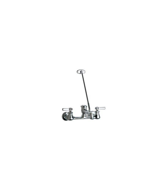 Not For Potable Use 2 Handle Lever 2 Hole Service Faucet Chrome