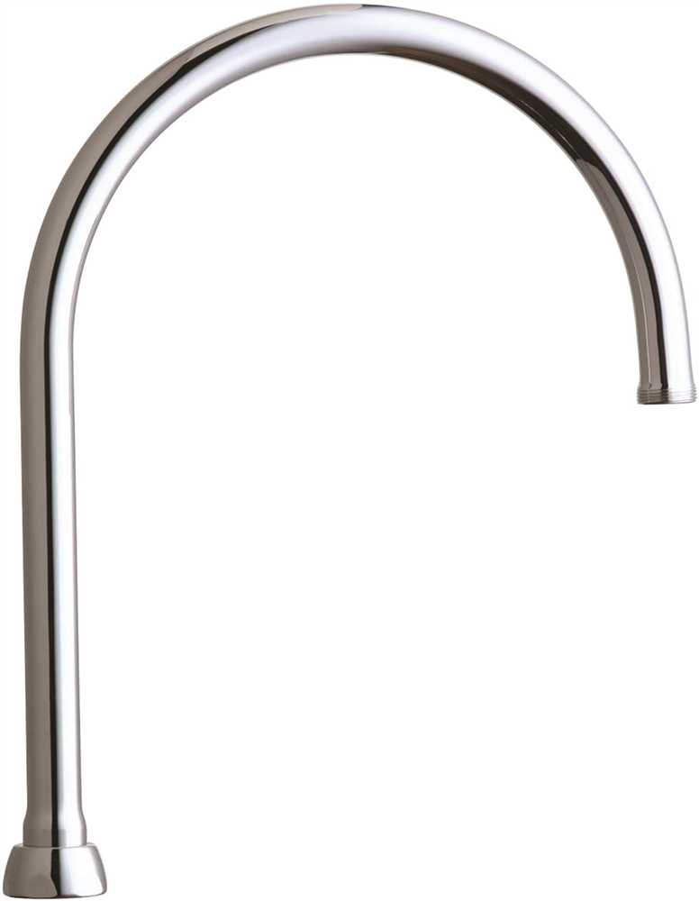 Chicago Faucets Ecast® Lead-Free Rigid Swing Field Convertible Gooseneck Spout, 9-3/4 In. Tall, Chrome