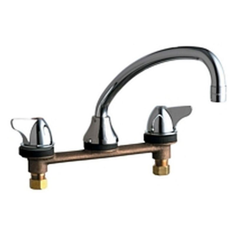CHICAGO CONCEALED HOT AND COLD WATER SINK FAUCET FOR STAINLESS STEEL COUMTER LEAD FREE