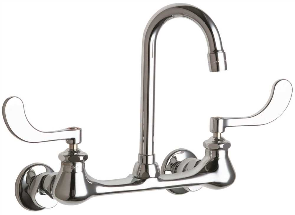 CHICAGO HOT AND COLD WATER SINK FAUCET LEAD FREE, WRIST BLADE HANDLES