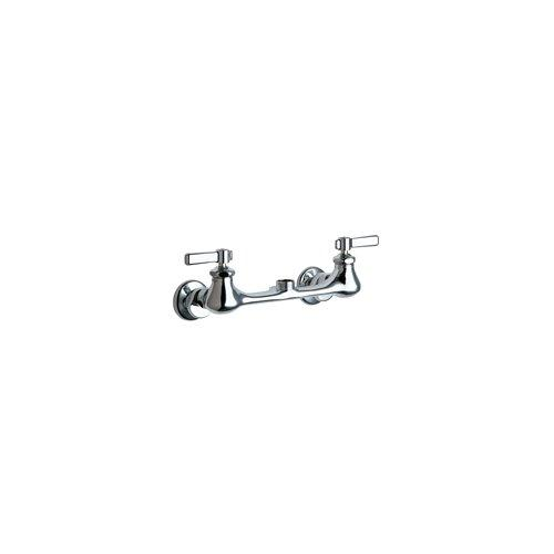 CHICAGO HOT AND COLD WATER SINK FAUCET LEAD FREE, LEVER HANDLES