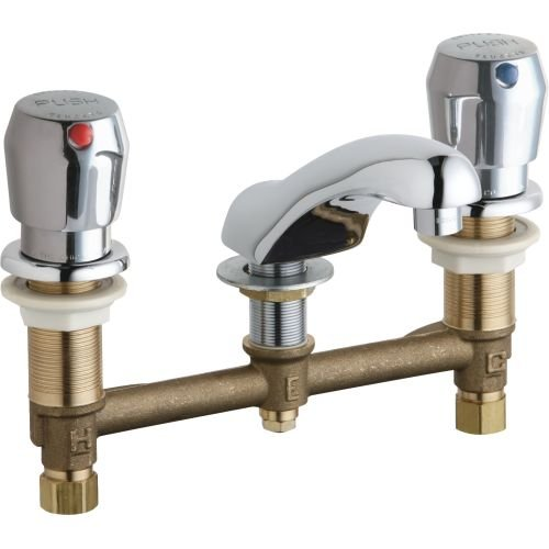 CHICAGO CONCEALED HOT AND COLD WATER METERING SINK FAUCET LEAD FREE