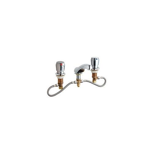 CHICAGO FAUCET CONCEALED HOT AND COLD WATER METERING SINK FAUCET, LEAD FREE