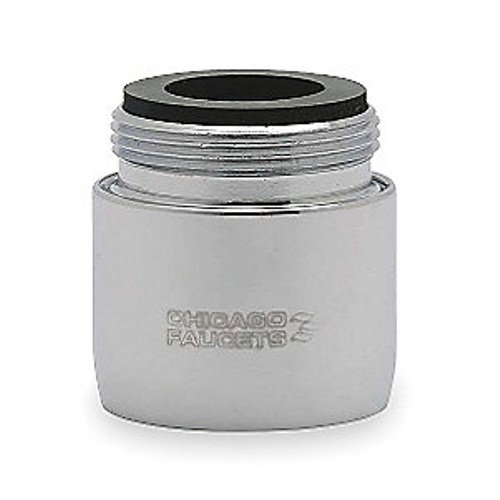 "CHICAGO FAUCET AERATOR WITH ADAPTER 3/8"" MIP, LEAD FREE"
