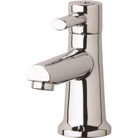 CHICAGO FAUCETS� DECK-MOUNTED SINGLE SUPPLY FAUCET, 4 IN., 0.5 GPM, CHROME-PLATED BRASS