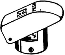 CHICAGO PUSH HANDLE FOR TIP-TAP FAUCETS PLAIN