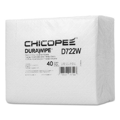 "Durawipe Medium-Duty Industrial Wipers, 14.6"" x 13.7, White, 960/Carton"