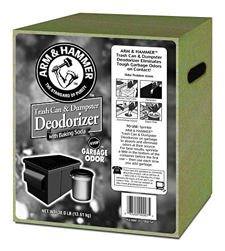 Trash Can & Dumpster Deodorizer, Unscented, Powder, 30 lb