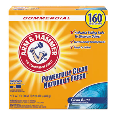 Powder Laundry Detergent, Clean Burst, 9.86 lb, Box, 3/Carton