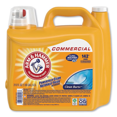 Dual HE Clean-Burst Liquid Laundry Detergent, 213 oz Bottle