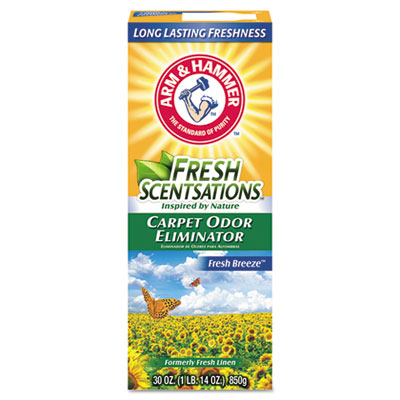 Fresh Scentsations Carpet Odor Eliminator, Fresh Breeze, 30 oz Box