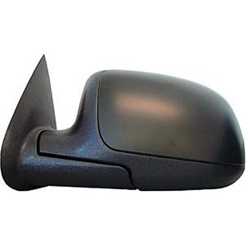 Original Style Replacement Mirror Chevrolet/GMC/Cadillac Driver Side Manual Foldaway Non-Heated Black Cap