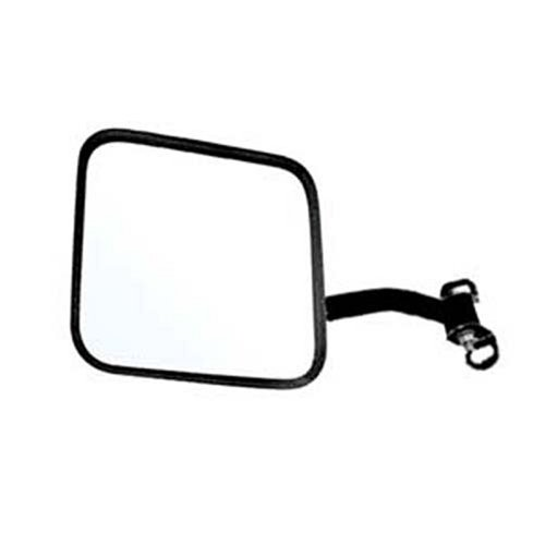 CJ-Style Passenger Side Jeep Replacement Mirror Manual Non-foldaway Non-Heated Black