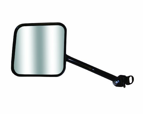 CJ-Style Driver Side Jeep Replacement Mirror Manual Non-foldaway Non-Heated Black