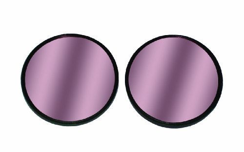 "Red Tinted 2"" Stick-On Convex HotSpot Mirrors"