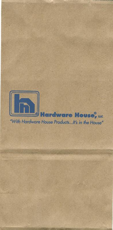 6# HARDWARE HOUSE NAIL BAG