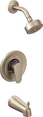 EDGESTONE� SINGLE-HANDLE BATHTUB/SHOWER TRIM KIT WITH WATER-SAVING SHOWERHEAD, 1.75 GPM, BRUSHED NICKEL