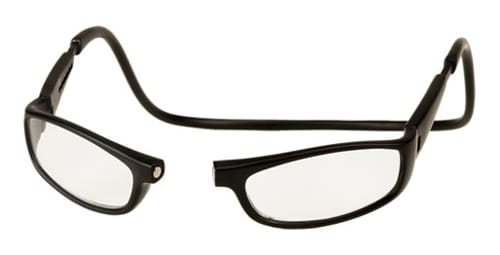 CLIC GOGGLES BLACK LONG 250 READING GLASSES MAGNETICALLY CLIC