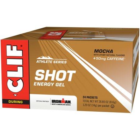Clif Shot, 24 Count Box, Mocha Gel