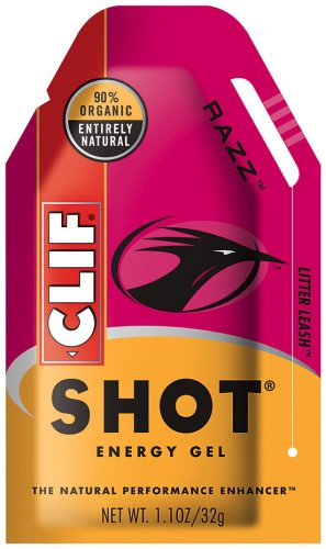 Clif Shot, 24 Count Box, Raspberry Sorbet Ge