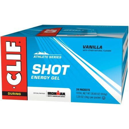 Clif Shot, 24 Count Box, Vanilla Gel