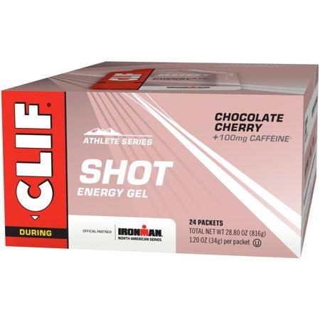 Clif Shot, 24 Count Box, Chocolate Cherry Tu