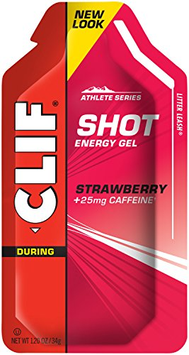 Clif Shot, 24 Count Box, Strawberry Gel