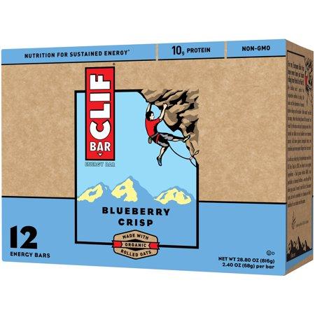 Clif Bar, 12 Count Box, Blueberry Crisp