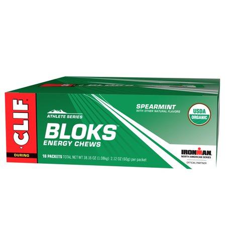 Clif Bloks, 18 Count Box, Spearmint