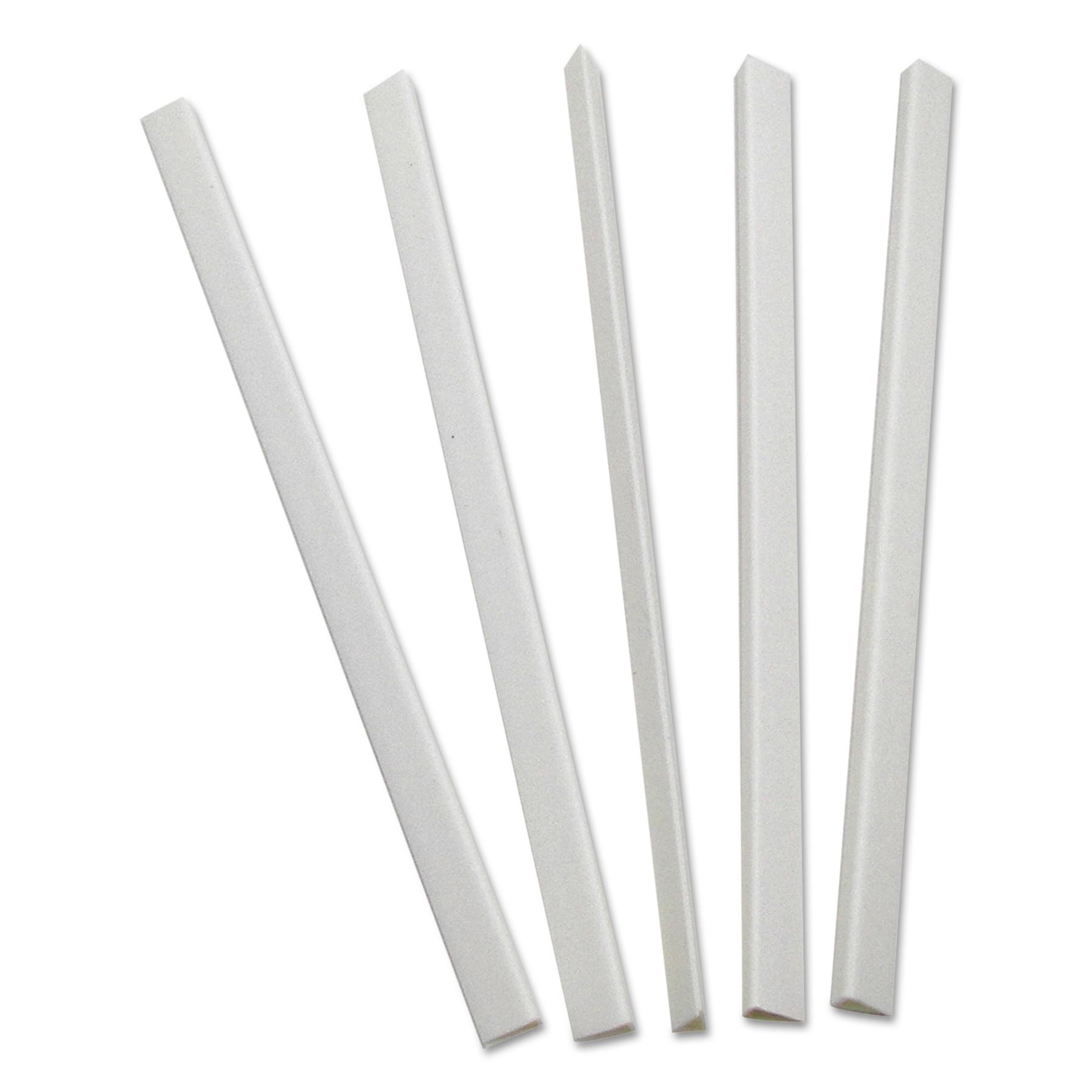 Slide 'N Grip Binding Bars, White, 11 x 1/4, 100/Box