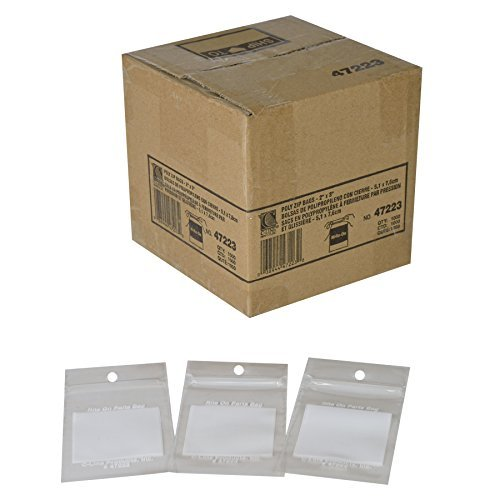 Write-On Recloseable Small Parts Bags, Poly, 2 Mil, 2 x 3, Clear, 1000/Carton