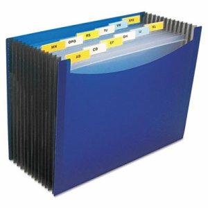 "13-Pocket Expanding File, 9"" Exp, Letter, Blue"
