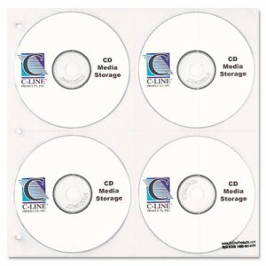 CD/DVD Refillable D-Ring Binder Kit, Holds 80 Discs, Black