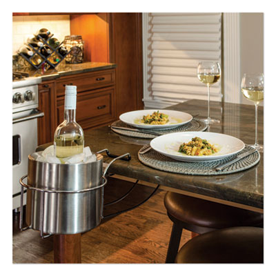 Wine By Your Side, Steel Frame/Red Wine Adapter/Ice Bucket, 161.06 cu in, Stainless Steel