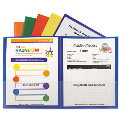 Classroom Connector Folders, Assorted, 6/Pk