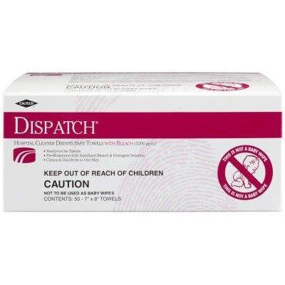 Clorox Dispatch Hospital Disinfectant Towels, 300 Towels