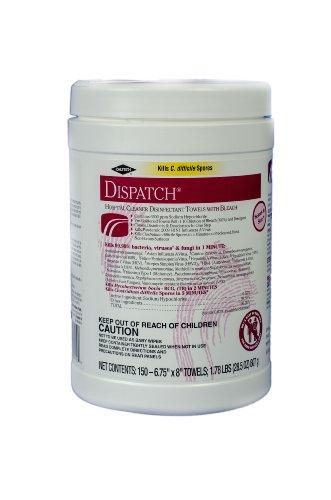 Clorox Dispatch Hospital Disinfectant Towels w/ Bleach, 1200 Towels