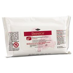 Dispatch Disinfectant Towels with Bleach, 8 x 10, 40/Pack, 24 Packs/Carton