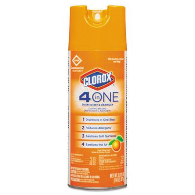 4-in-One Disinfectant & Sanitizer, Citrus, 14oz Aerosol