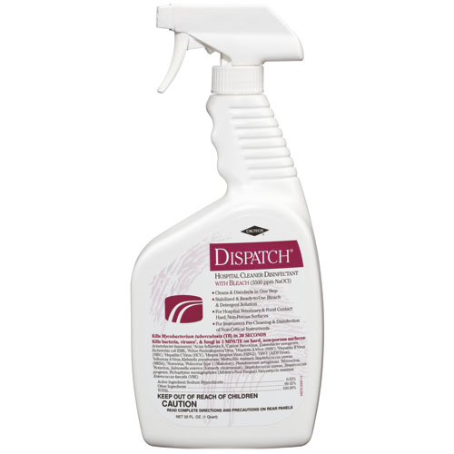 Clorox Dispatch Hospital Cleaner Disinfectant w/Bleach, 32oz, 6/Case